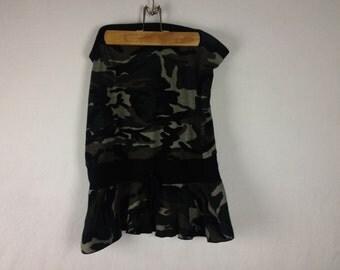club sleeveless camouflage tube top mini dress