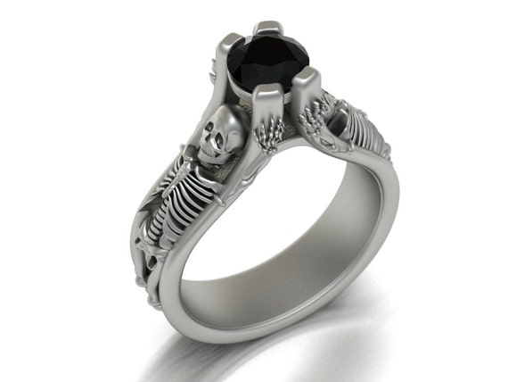 The Skeleton Ring - 14k White Gold