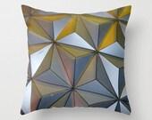 Epcot Ball Geometric Pillow Cover, Triangle Pillow, Silver Pillow, Photo Pillow Case, Disney World Pillow,16X16 Pillow Cover 18X18, Modern