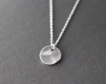 Coin necklace // disc necklace // Silver