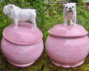 Cookie Box/jar with any dog or dogs you choose by pic
