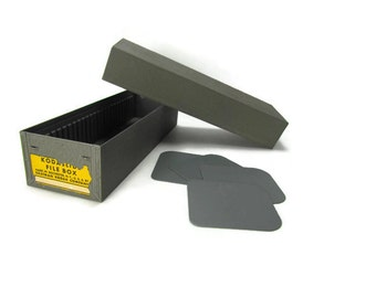 Vintage Kodak Kodaslide Metal File Box for Film Slides