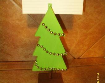 Christmas Tree Recipe Card Holder