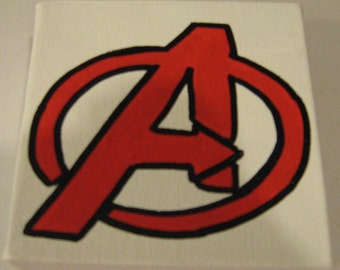 """Marvel The Avengers Canvas Picture 4""""x4"""""""