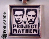 Fight Club Project Mayhem Brad Pitt Edward Norton Pendant Micro-Suede Necklace