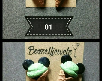 Mickey Mouse ice cream cone earrings