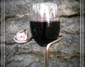 DELUXE VERSION-2 Outdoor Wine Glass Holders - Blacksmith Made-Ornamental-Wine glass rack-Wine accessories