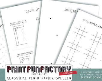 Printable pen & paper games - DUTCH VERSION