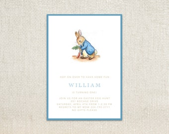 Beatrix Potter's Peter Rabbit kids birthday party invitations