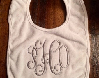 Personalized bibs for baby.