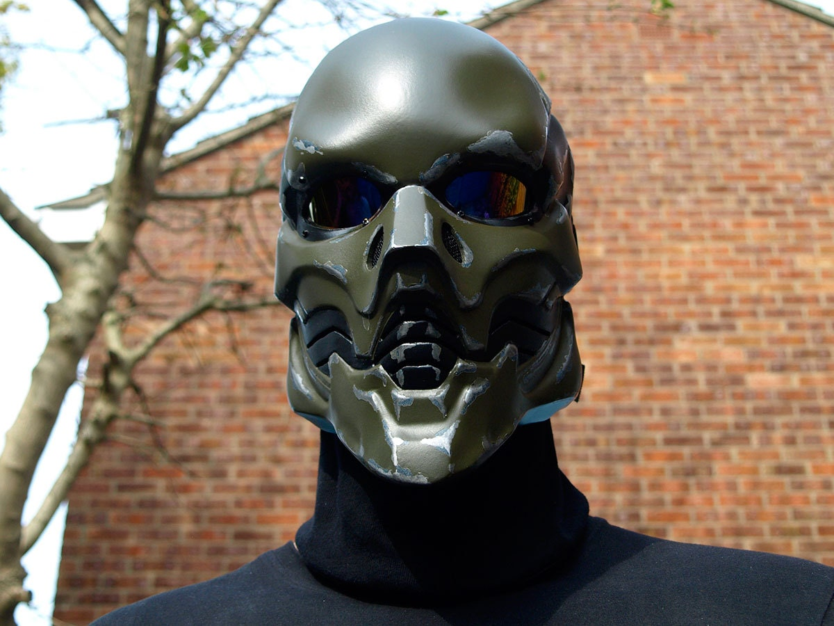 how to make an airsoft mask out of cardboard