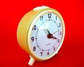 New Old Stock 70's Clock  - Vintage Clock - Style Clock - Alarm Clock - Clock - Old Clock - Russian KUCO Original Clock -Winding Clock  Nr7B