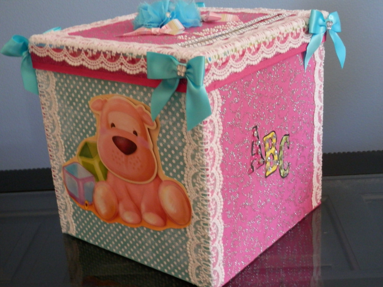 boy or girl baby shower gift card box