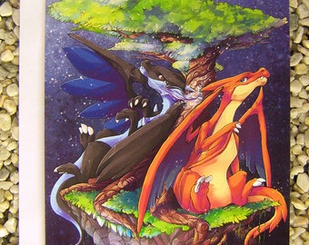 Greeting Card, The Charizards X and Y