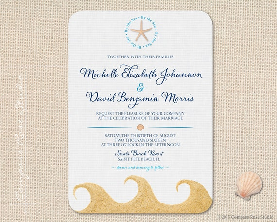 Wedding Gifts For Eloped Couple : ... Wedding Invitations, Beach Wedding, Elopement Announcement, Elope