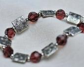 Tibetan Silver and Amethyst Bracelet