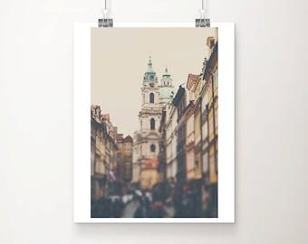 prague photograph architecture photograph travel photography landscape photograph cream wall decor czech republic photo