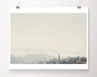 church photograph germany photograph religious photograph church print germany print travel photography fog photograph