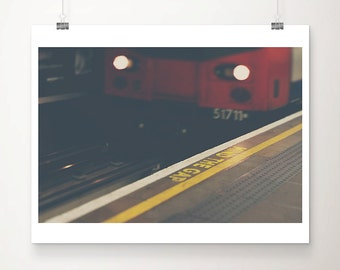 train photograph london photograph london underground photograph mind the gap print london print travel photograph train print