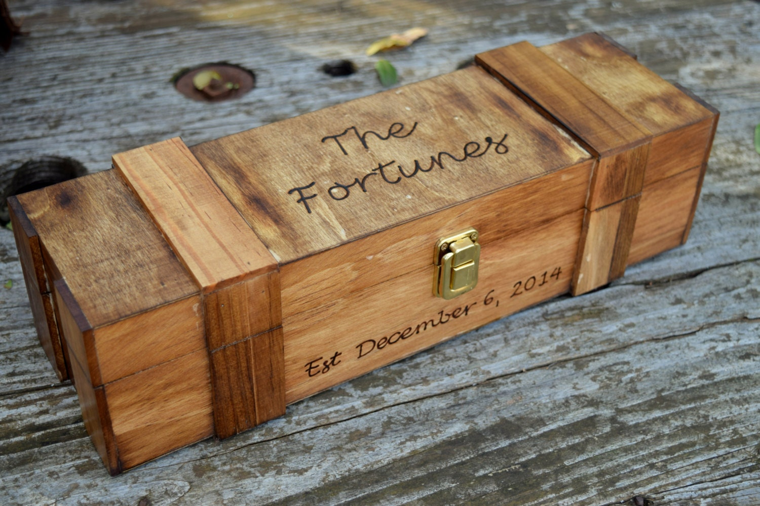 Rustic Wedding Wine Box Wine Capsule Wine Box Ceremony