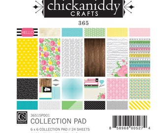 Chickaniddy Crafts - 365 Collection - 6x6 Paper Pad - 24 Sheets - 36515PD01