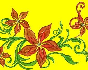 lightweight design, bouquet of flowers, sequins - Machine Embroidery design