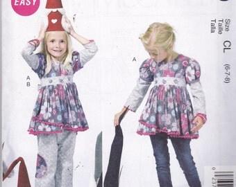 McCalls 6639 Pattern Girls Tunic Top and Pants Size 6,7,8 UNCUT