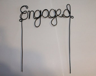 Engaged Cake Topper - Engagement Party- Cake Accessory