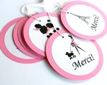 12 Paris Theme Gift Tags. Favor Tags. First Birthday. Baby Shower. Paris Birthday.