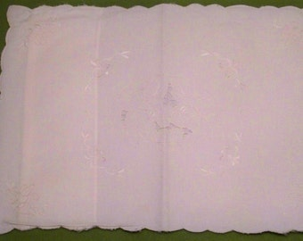 White Cut Work Top Pillow Sham - 15'' X 12'' - Cecelia-Marie - 112
