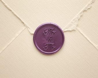 Mr and Mr wedding wax seal / LBGTQ Wedding / gay wedding / mr and mr invitation / gay invitation / LGBT invitation / wedding seal / Mr & Mr