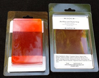 Red Rose and Thyme, Handmade Glycerin Soap