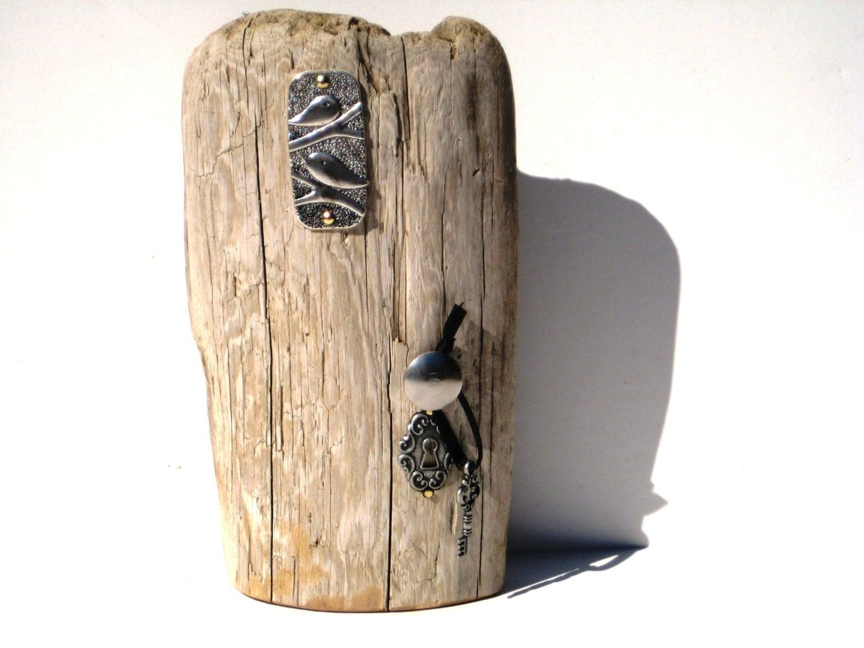 F e bois porte bois flott porte en bois porte f e jardin f es for Porte bougie bois flotte