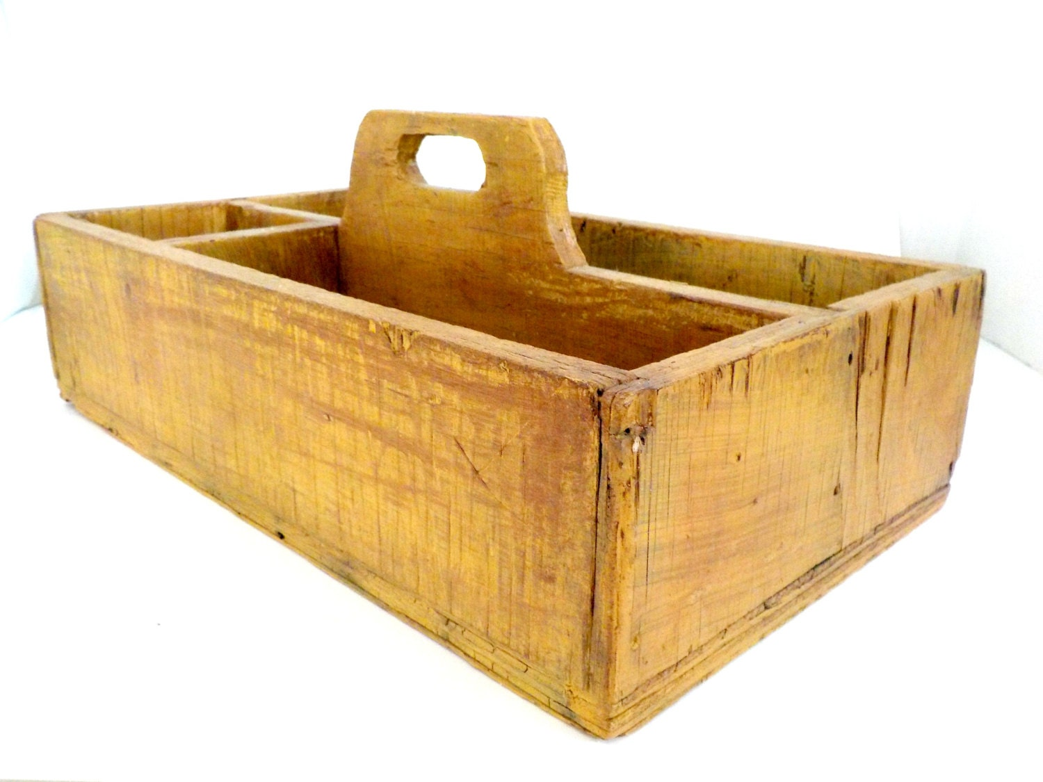 old wooden tool caddy tool carrier garden caddy hand made