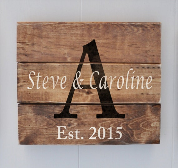 Wedding Gift Name Sign : Name sign, Wedding Gift, Anniversary Gift, Last Name Sign, Bridal ...