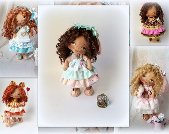 Soft Doll PATTERN, PDF, Cloth Doll Pattern, Digital Download PATTERN