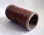 cosy cuddle tunnel / roll for guinea pigs, hedgehogs or sugar gliders (chocolate/coyote)