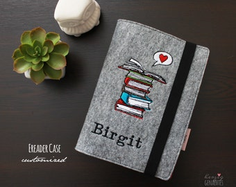 Felt Kindle Case Book Love Handmade E-Reader Case
