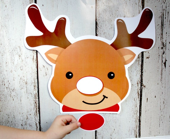 ... PIN the NOSE on Rudolph Game - PRINTABLE Download - Fun Family Party