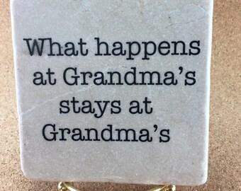 Grandmother, Grandma Gift Decorative Tile Quote Coaster Trivet Home  Decor