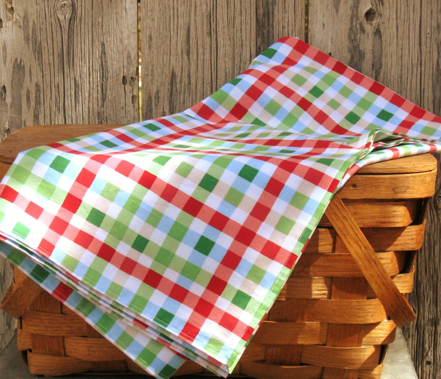Square Tablecloth Gingham Plaid Tablecloth In Red Green Blue