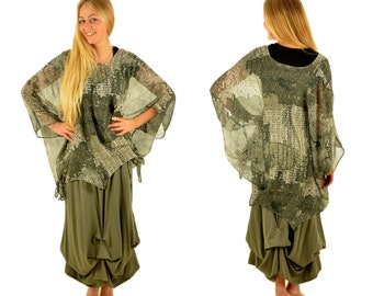 BD400 Chiffon Tunic Women's layered look Gr. 44-54