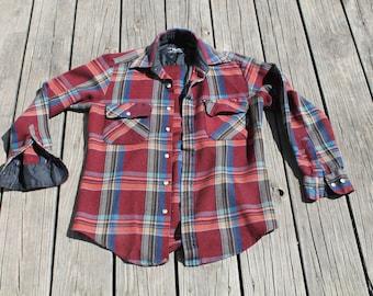 Van Cort Plaid Flannel Button Up Shirt
