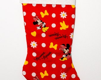 Minnie Mouse Christmas stocking