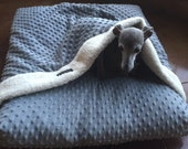 P'Iglet Pouch- Small Made to Order Minky Burrowing Dog Bed with built in Blanket
