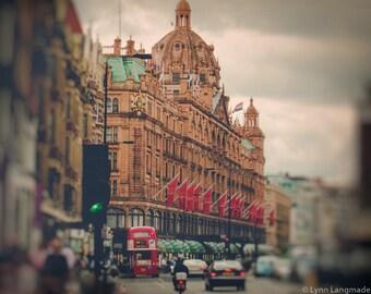 "London Photography - harrods department store 16x20 beige red 8x10 neutral wall decor travel wall art 11x14 london wall decor  ""Shopaholic"""