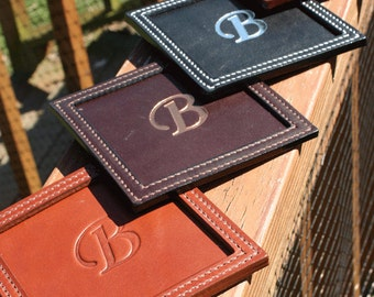 Square Embossed Leather Coasters