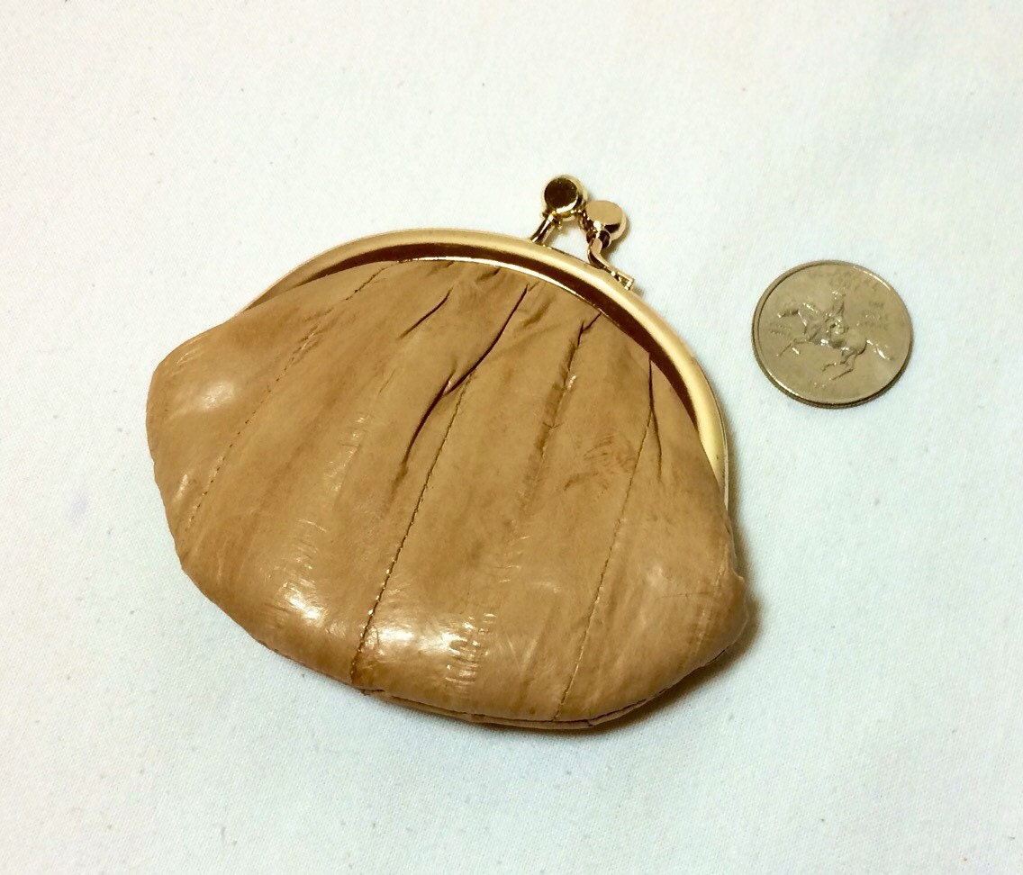 how to clean an eel skin purse