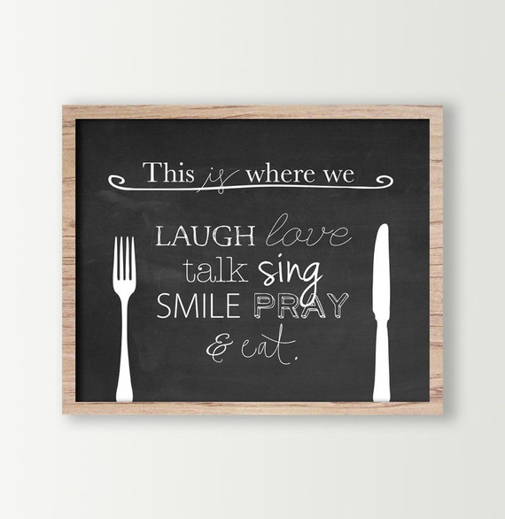 Eat sign black amp white kitchen wall art signs dining room art