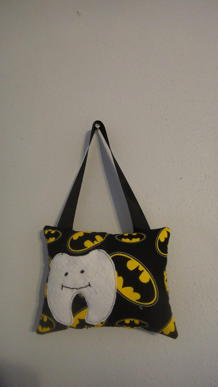 Boys batman fabric toddler hanging tooth fairy pillow for Batman fairy door
